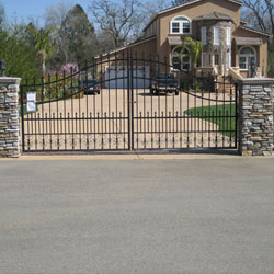 Wrought Iron Driveway Gates Roseville, CA